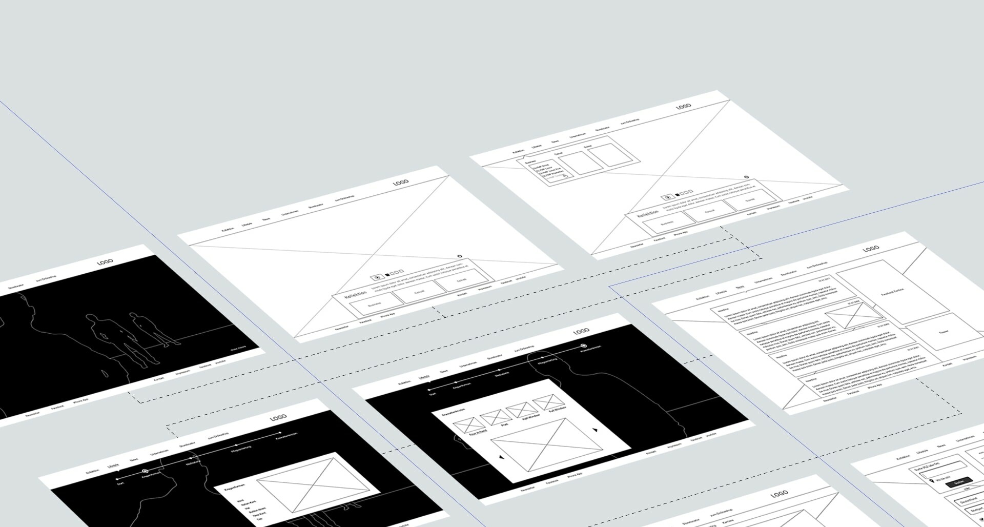 Olymp | User Experience Design - Wireframes