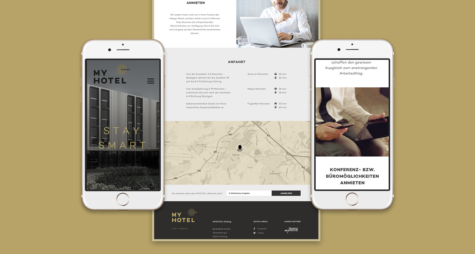 My Home | User Interface - Responsive Webdesign - Mobile