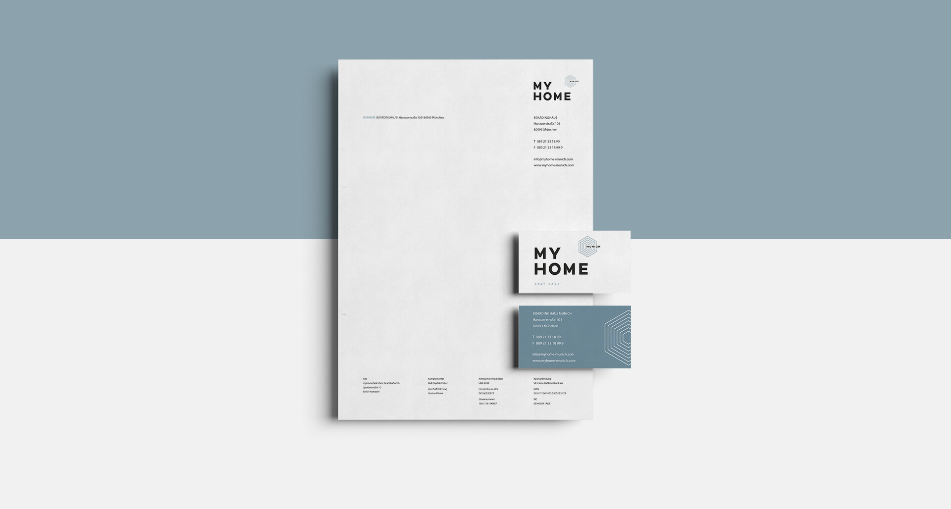 My Home | Corporate Identity - Briefpapier und Visitenkarten